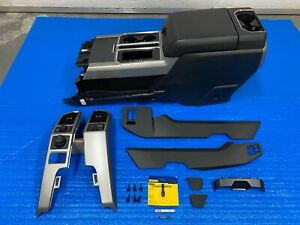 2019 Ford F150 Lariat Center Floor Console W Armrest Black With All Trim Needed