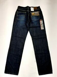 NEW LEE RELAXED FIT STRAIGHT LEG MEN#x27;S JEANS SIZE 31X 32 NWT $23.97