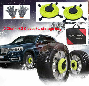 Big Ant 2pcs Snow Tire Chains Anti Skid For Car Truck Suv Emergency Winter