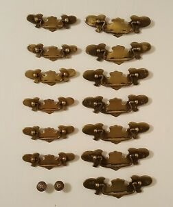 13 Steel Batwing Style 2 Sizes Drawer Pulls And 2 Sm Decorative Mushroom Type