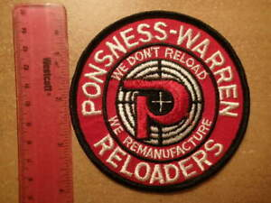 Vintage Embroidered Patch PONSNESS WARREN RELOADERS Excellent Condition $6.99