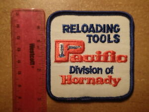 Vintage Embroidered Patch PACIFIC RELOADING TOOLS HORNADY Excellent Condition $7.99