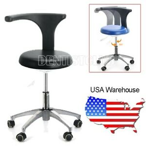 Pu Leather Medical Doctor s Stool Adjustable Mobile Chair Stable Base