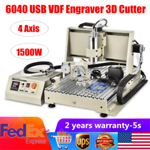 1 5kw Usb 6040cnc Router Engraver 4axis 3d Vfd Metal woodworking Milling Machine