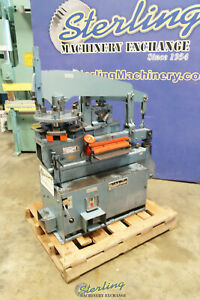 40 Ton Used Scotchman Hydraulic Ironworker with 6 Station Turret Head Usa Mad