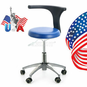 Dental Pu Leather Medical Doctor Assistant Stool Adjustable Height Mobile Chair