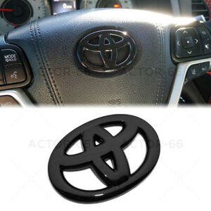 Gloss Black Steering Wheel Logo Badge Cover Overlay Emblem For Toyota Decorate Fits 2004 Corolla