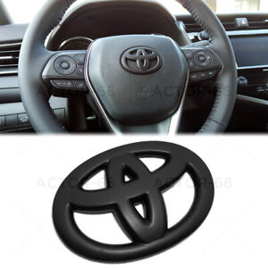 Matte Black Steering Wheel Logo Badge Cover Overlay Emblem For Toyota Decorate Fits 2004 Corolla