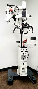 Leica M 500 n Surgical Microscope On Ms1 Stand