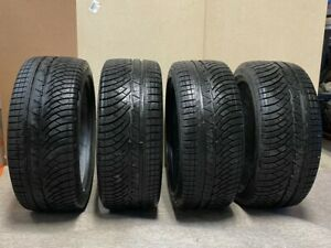 1 Set Of Used Michelin Pilot Alpin Pa4 Winter Performance Tires 22540r18 Fits 22540r18