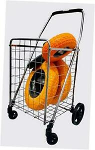 Grocery Utility Shopping Carts Heavy Duty Loading Easy To Put On Wheels