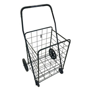 Folding Shopping Cart Utility Trolley single Basket portable For Grocery laundry
