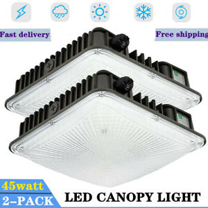 45w 2 Pack Led Gas Station Canopy Light 5400 Lumens Brightest Canopy Us Stock