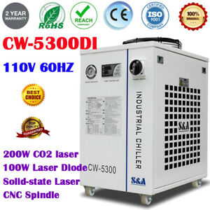 S a Cw 5300di Industrial Water Chiller For Co2 Laser Laser Diode Cnc Spindle