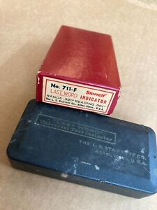 Starrett Last Word Indicator No 711 f With Case And Box