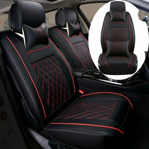 Leather Car Seat Cover Protector Cushion Universal 5 Seats Suv Front Rear Set Us Fits Honda Civic
