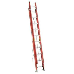 Werner Fiberglass Extension Ladder 20 Ft 300 Lb Capacity Traction tred D rung