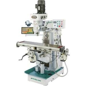 Grizzly G0827 11 X 50 2 Hp Horizontal vertical Mill With Dro
