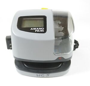 Amano Pix 95 Electronic Time Recorder time Date Stamp Pix 95 a421