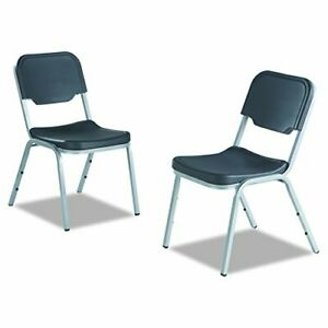 Iceberg 64117 Rough N Ready Series Original Stackable Chair Charcoal silver C