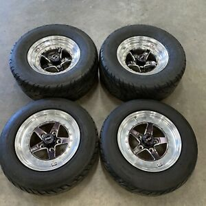 Weld Racing Rt Forged Aluminum Polished 15x7 15x8 Wheels Chevy Chevelle 5x4 75