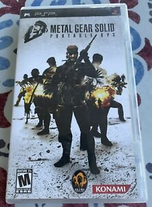 PSP Game Metal Gear Solid Portable Ops Black Label Complete in box CIB Tested $14.99
