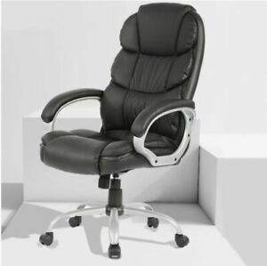Bestoffice Office Chair Desk Chair Pu Leather High Back Executive Chair Black
