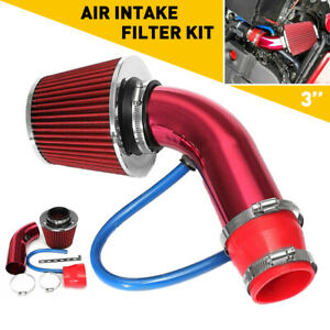 Red 3 Cold Air Intake System Heat Shield For 2000 17 Toyota Tacoma Sienna Honda