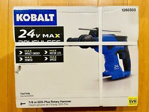 Kobalt 1260303 24 volt 7 8 in Sds plus Cordless Rotary Hammer Drill Tool Only