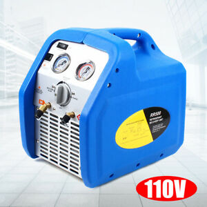 Electric Air Conditioning Refrigerant Recovery Unit Recycling Machine Rr250 110v