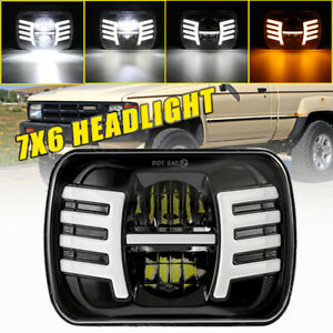Brightest 5x7 7x6 Inch Rectangle Led Headlight Wing Drl For Toyota Pickup Truck