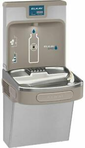 Elkay Lzs8wsp Ezh2o Wall Mounted Drinking Fountain And Hands Stainless Steel