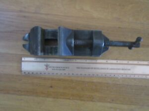 Vintage Drill Press Vice 2 1 4 Aluminum Base Removeable Jaws Nice