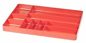 Ernst 5010 The Tray Classic 10 Compartment Tool Organizer Red