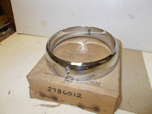 Mopar Nos Headlamp Door Bezel 68 Chrysler Newport