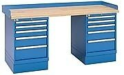 Lista Xswb62 72bt 72 X 30 Industrial Workbench 2 Cabinet 10 Drawers Wood Top