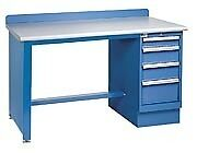 Lista Xstb30 60bt 60x30 Technical Workbench 1 Pedestal Cabinet 4 Drawers Wood