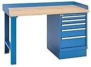 Lista Xswb20 60bt 60 X 30 Industrial Workbench 1 Cabinet 5 Drawers Butcher Blo