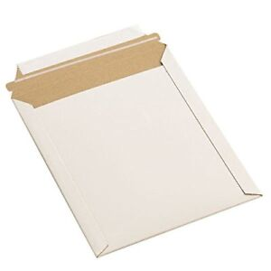 100 12 75x15 Rigid Photo Mailers Envelopes Stay Flats Self Seal