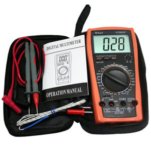 Vc9808 Digital Multimeter Res Cap Freq Temp Dcv a Diode Buzz Auto Power