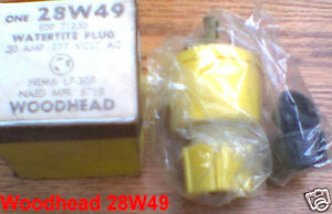 Woodhead 28w49 30 Amp 277 Volt L7 30p Watertite Plug