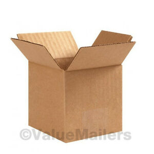 100 6x6x5 Cardboard Shipping Boxes Cartons Packing Moving Mailing Box