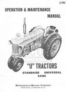 Minneapolis Moline U Utu Uts Utc Utn Operator Manual