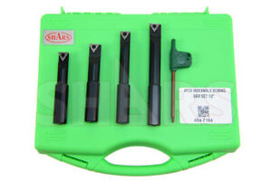 Shars 1 2 Shank 4 Pieces Indexable Boring Bar Set W Free Tcmt Inserts New