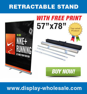 57 Wide Banner Stand Free Full Color Banner Print