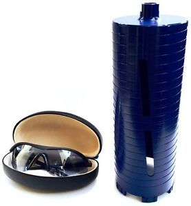 6 Dry Diamond Core Drill Bit For Concrete Masonry 5 8 11 Threads With Glasses
