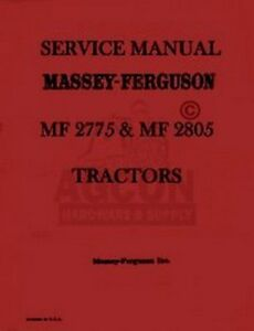 massey ferguson 2705 service manual