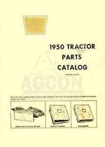 Oliver 1950 Tractor Parts Catalog Manual
