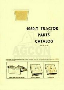 Oliver 1950 t Tractor Parts Catalog Manual