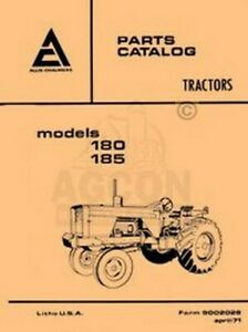 Allis Chalmers 180 Diesel And 185 Tractors Parts Catalog Manual